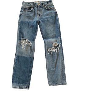 Free People Hi-rise distressed jeans